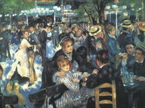 Pierre Auguste Renoir - The Ball at the Moulin de la Galette