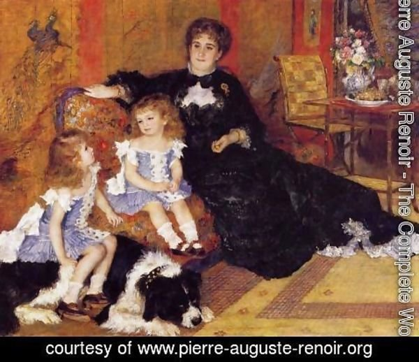 Pierre Auguste Renoir - Madame Georges Charpentier and her Children, Georgette and Paul