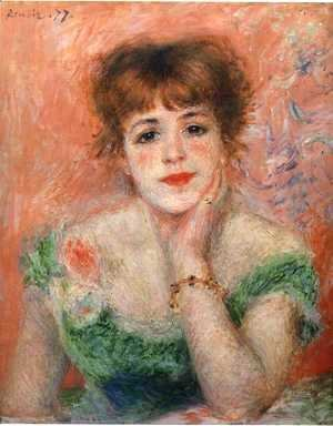 Pierre Auguste Renoir - Jeanne Samary in a Low-Necked Dress