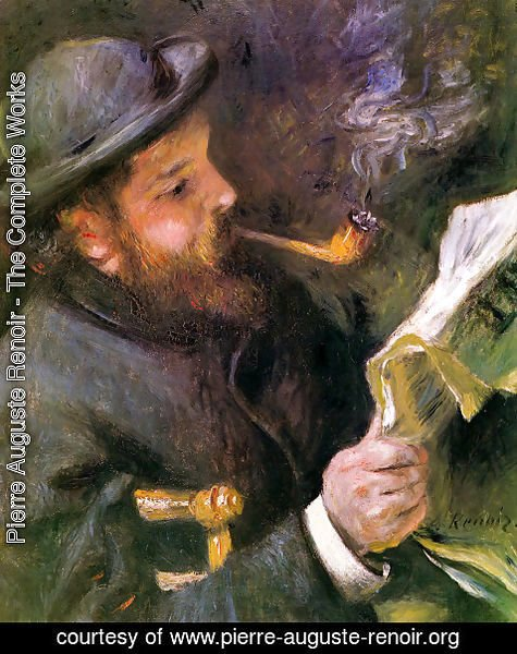 Pierre Auguste Renoir - Claude Monet Reading A Newspaper