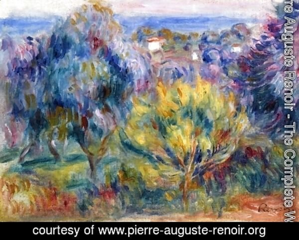 Pierre Auguste Renoir - Landscape with a View of the Sea