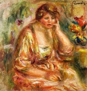 Pierre Auguste Renoir - Andree in a Pink Dress