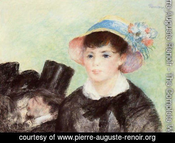 Pierre Auguste Renoir - Young Woman in a Straw Hat 2