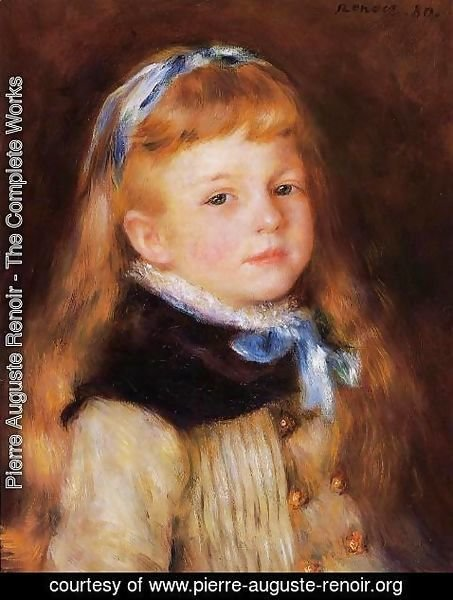 Pierre Auguste Renoir - Mademoiselle Grimprel in a Blue Ribbon