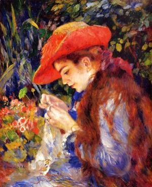 Pierre Auguste Renoir - Mademoiselle Marie-Therese Durand-Ruel Sewing