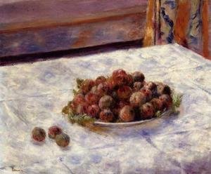 Pierre Auguste Renoir - Still Life, a Plate of Plums