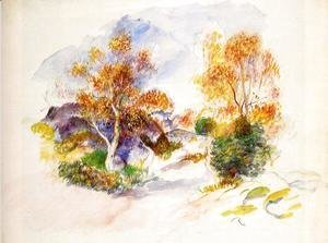Pierre Auguste Renoir - Landscape with Trees 2