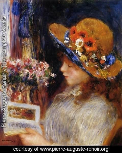 Pierre Auguste Renoir - Young Girl Reading 2