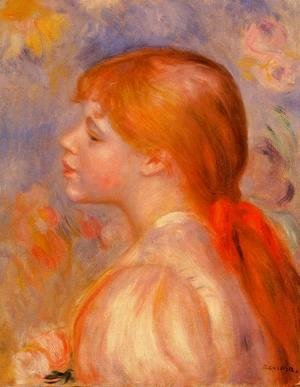 Pierre Auguste Renoir - Girl with a Red Hair Ribbon