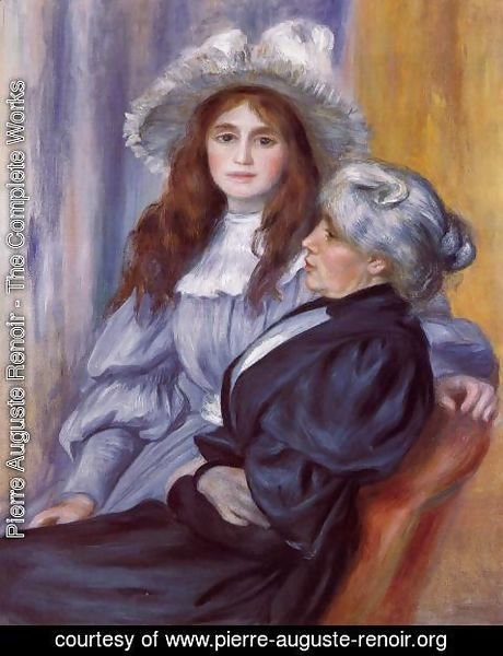 Pierre Auguste Renoir - Berthe Morisot and Her Daughter Julie Manet