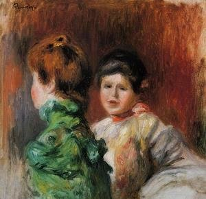 Pierre Auguste Renoir - Study 'Two Women's Heads'