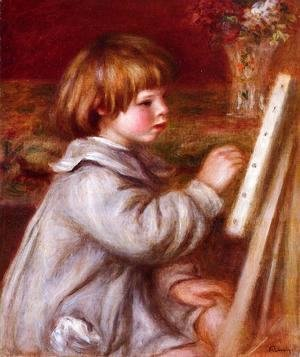 Pierre Auguste Renoir - Portrait of Claude Renoir Painting
