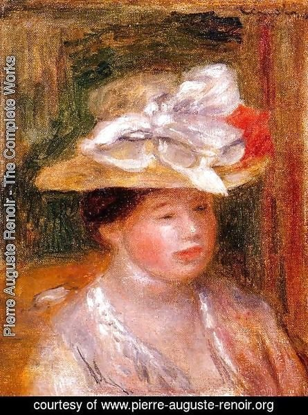 Pierre Auguste Renoir - Head of a Woman I