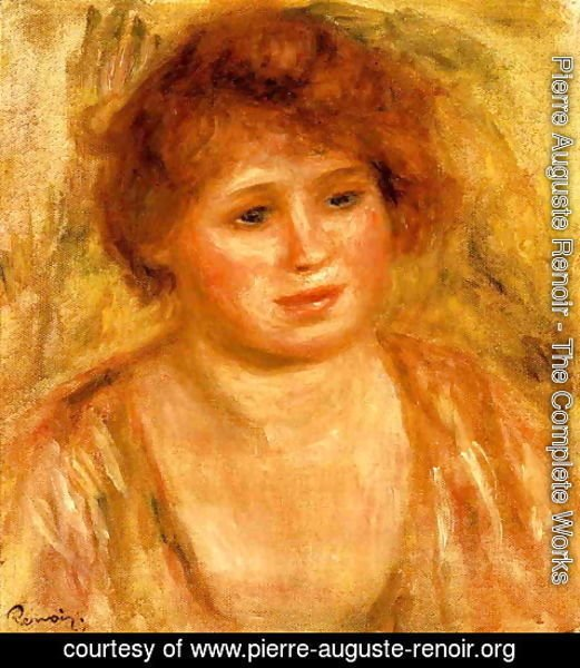Pierre Auguste Renoir - Woman's Head IV