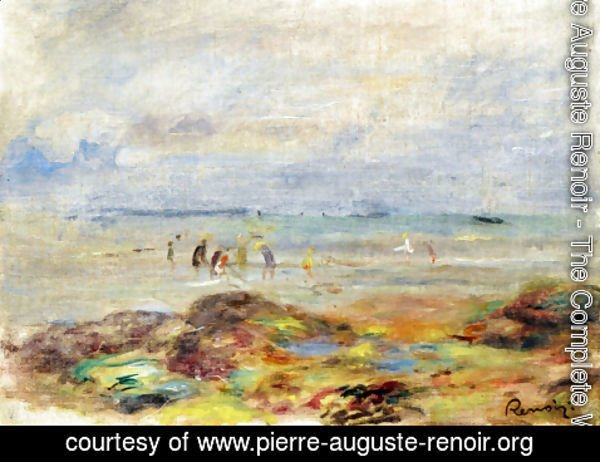 Pierre Auguste Renoir - Rocks with Shrimp Fishermen