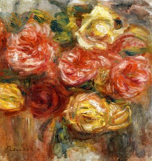 Pierre Auguste Renoir - Bouquet of Roses in a Vase