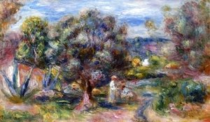 Pierre Auguste Renoir - Aloe, Picking at Cagnes