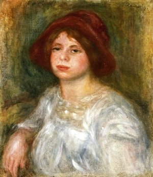 Pierre Auguste Renoir - Girl in a Red Hat
