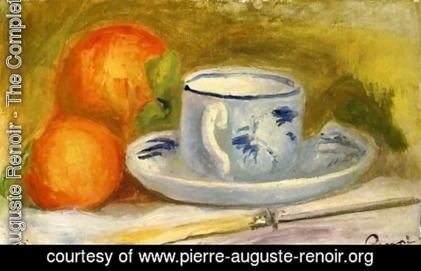 Pierre Auguste Renoir - Cup and Oranges