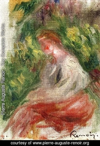 Pierre Auguste Renoir - Young Woman, Seated