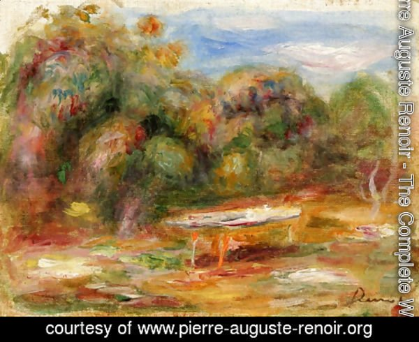 Pierre Auguste Renoir - In the Garden at Collettes in Cagnes