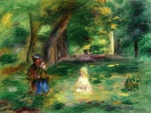Pierre Auguste Renoir - Three Figures in a Landscape
