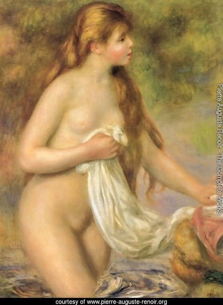 Bather with Long Hair