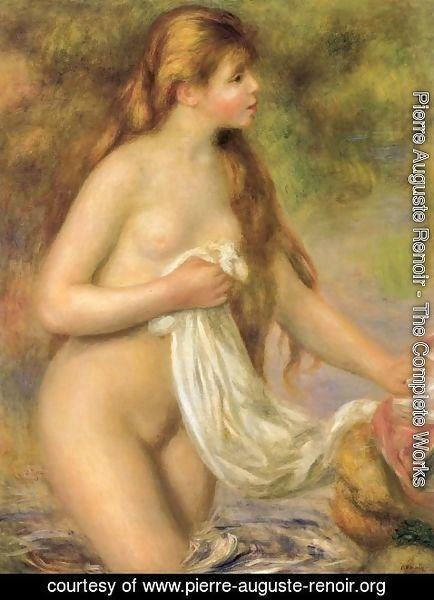 Pierre Auguste Renoir - Bather with Long Hair