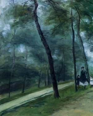 Pierre Auguste Renoir - A Walk in the Woods (Madame Lecoeur and Her Children)