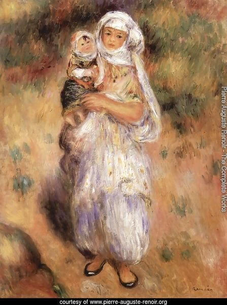 Algerian woman with a child