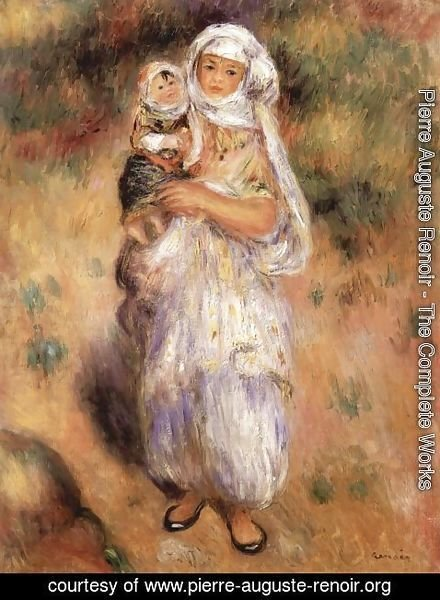 Pierre Auguste Renoir - Algerian woman with a child