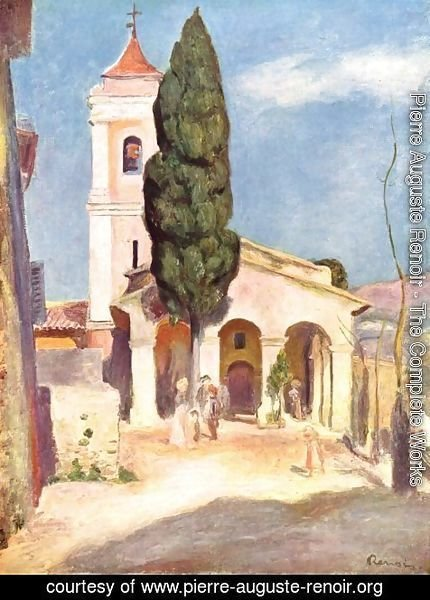 Pierre Auguste Renoir - Church in Cagnes