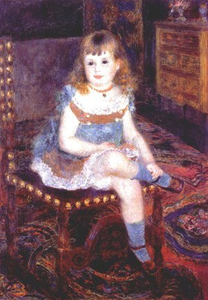 Pierre Auguste Renoir - Georgette Charpentier Seated