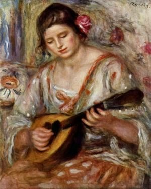 Pierre Auguste Renoir - Girl with a Mandolin