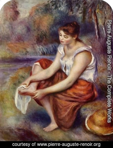 Pierre Auguste Renoir - Girl, at the feet of drying