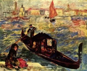 Pierre Auguste Renoir - Gondola along the Grand Canal, Venice