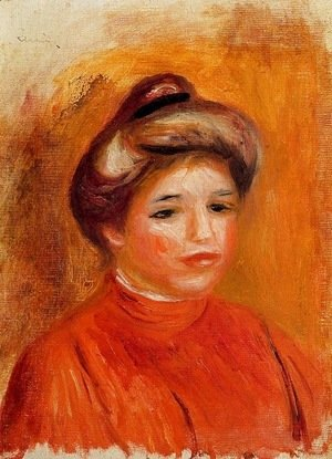 Pierre Auguste Renoir - Head of a Woman 3