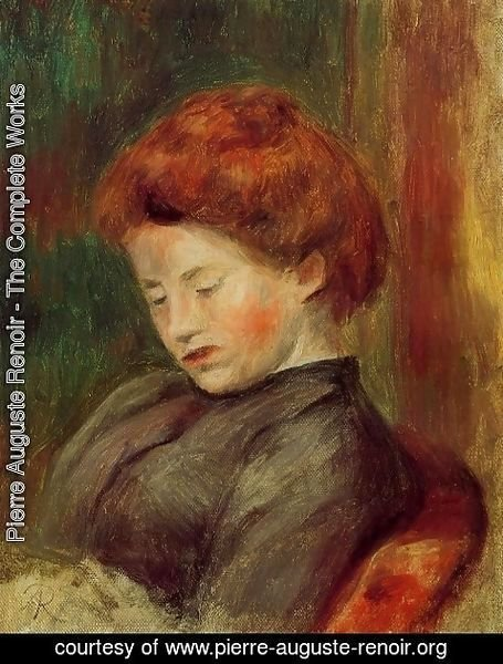 Pierre Auguste Renoir - Head of a Woman 5