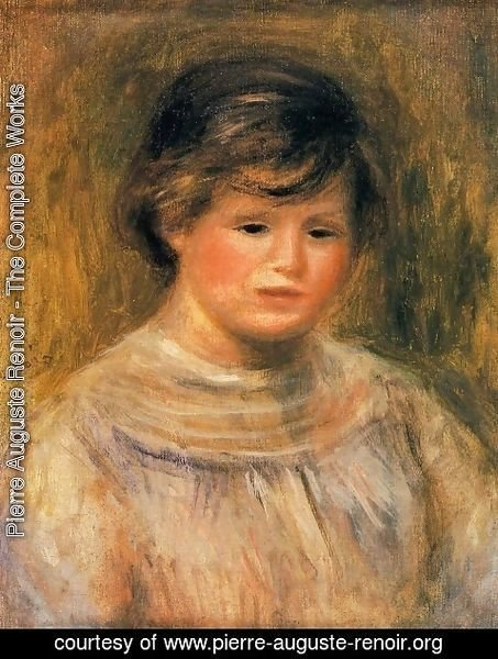 Pierre Auguste Renoir - Head of a Woman 6