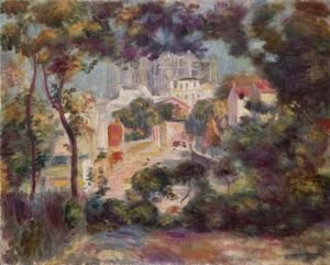 Pierre Auguste Renoir - Landscape with a view of the Sacré-C?ur