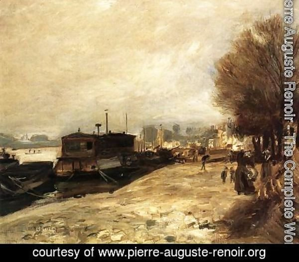 Pierre Auguste Renoir - Laundry Boat by the Banks of the Seine, near Paris