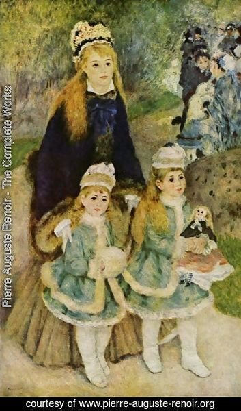 Pierre Auguste Renoir - Madame Georges Charpentier and Her Children at park