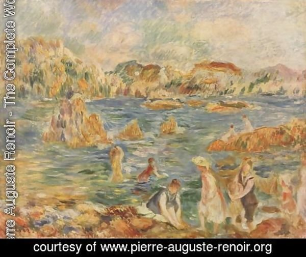Pierre Auguste Renoir - On the beach of Guernesey