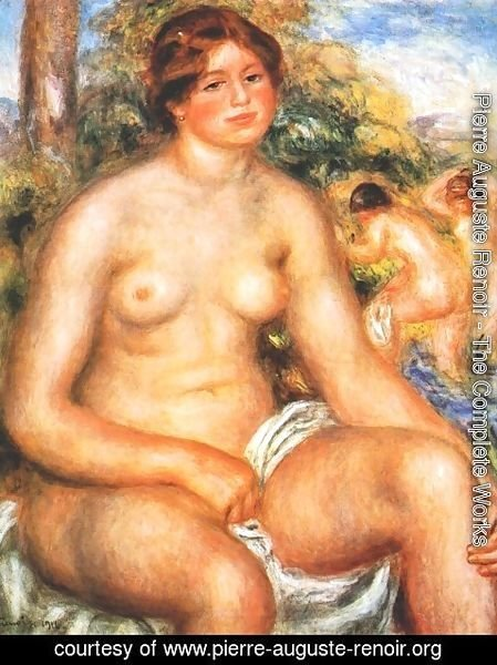 Pierre Auguste Renoir - Seated Bather 2