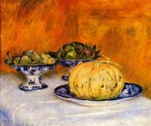 Pierre Auguste Renoir - Still Life with Melon 1
