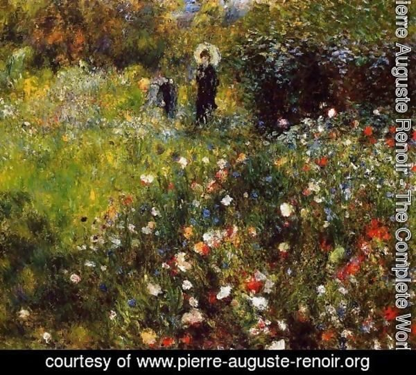 Pierre Auguste Renoir - Summer Landscape (Woman with a Parasol in a Garden)