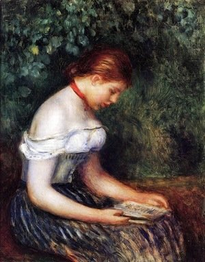 Pierre Auguste Renoir - The Reader (Seated Young Woman)