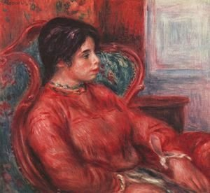 Pierre Auguste Renoir - Woman in armchair