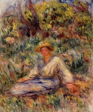 Woman in Blue in a Landscape