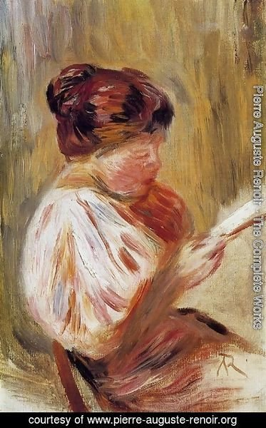 Pierre Auguste Renoir - Woman Reading 1